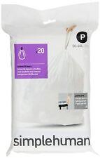 Simplehuman Bin Liners  50/60 Litre, Code P Pack Of 20