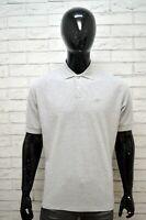 Polo Grigia Maglia Uomo REEBOK Taglia XL Maglietta Shirt Man Herren Poloshirt
