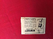 m12w ephemera 1950s advert newfooty table soccer liverpool