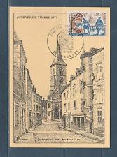 carte  1er jour  journée du timbre  52 Chaumont    1971