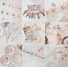 TEAM BRIDE TO BE HEN PARTY SASHES MAID HONOUR TATTOOS BALLOON ROSE GOLD PINK