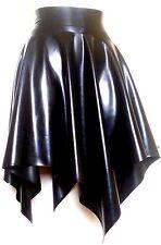 schwarz Latex Fetisch Rock Gummi Gummi mittlere dicke XS klein mittel groß XL