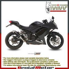 Mivv Exhaust Muffler GP Black Stainless Steel for Kawasaki Ninja 300 2013 > 2016