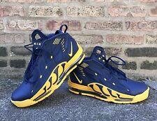 Nike Air Max Pillar Blue Yellow Size 12 Michigan Rod Woodson