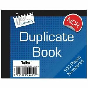 3 x Half Size Numbered Duplicate Book Pad 1-100 Ncr No Carbon Required Receipt
