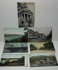 Set of 7 Postcards 100 years old USA Cities. Some postmarked.