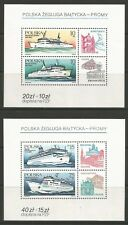 stamps-poland. 1986. PASSAGER Ferries MINIATURE feuilles Sg:ms3046. MNH