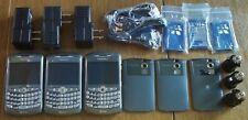 Q326 Lot of 3 Blackberry Curve 8310 at&t Camera Bluetooth UNLOCKED GSM QUADBAND