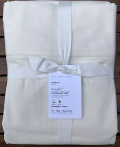 Pottery Barn CLASSIC 400-THREAD-COUNT SHEET SET, IVORY, Size Queen,New W/$129.00