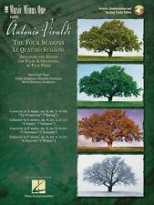 Vivaldi The Four Seasons for Flute Sheet Music Minus One Play-Along Book Audio