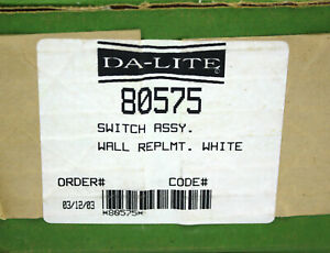 Da-Lite Switch Assembly 80575 White
