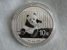 China Panda 2014 10 yuanes de Plata 1oz .999 lingotes de plata