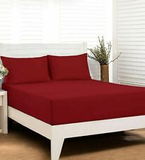 """Ultra Soft Smooth Cooling 1800 Count Microfiber 13"""" Depp Pocket Fitted Sheet"""