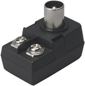 Right Angled Coaxial Line Plug with Balun Transformer