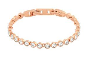 SWAROVSKI 5039938 Tennis Bracelet White Rose-gold tone plated