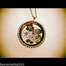 Living Memory Locket Pendants Necklaces Floating Charms Origami Owl style