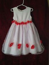 Girls American Princess White Chiffon Baby Doll Dress Size 4 Party Wedding Model