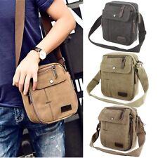 Men Retro Vintage Messenger Canvas Shoulder Bag Small Handbag Business Travel UK