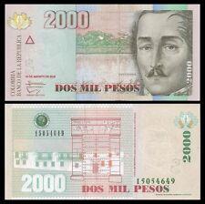 Colombia 2000 PESOS 16.8.2012 P 457 UNC