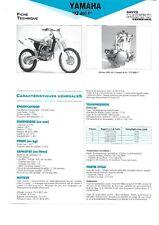yamaha  yz400f  1998 cross fiche technique revue technique moto