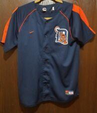 Nike Blue Detroit Tigers Baseball Jersey Youth Large 14-16 STITCHED