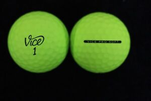 120 Vice Pro Soft Neon Green Good Quality Used Golf Balls AAA