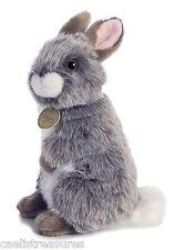 "Miyoni AMERICAN CHINCHILLA RABBIT STANDING 10"" Plush Aurora Easter Bunny NEW"