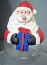 Clay Dough Santa Candy Dispensor Christmas Ornament