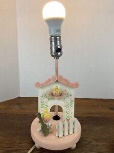 Vintage Wooden Angels Nursery Lamp