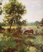 LAWTON WINGATE c1900 Oil Painting SUMMERTIME Vintage Arwork 1930 Book Print