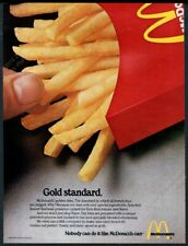 1980 McDonald's restaurants French fries photo Gold Standard vintage ad