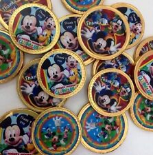20 x Mickey Mouse Clubhouse Chocolate Gold Birthday Thanku Coins