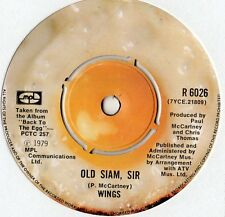 "Paul Mccartney / Wings - Old Siam Sir 7"" Single 1979"