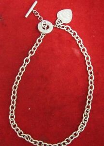 Tiffany & Co Sterling Silver Toggle Choker W/ Heart