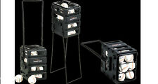 Baseball Caddy Portable Pitching Cart Ball Pick Up Holds 24 Baseballs