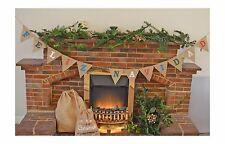 Feliz Navidad Christmas Decoration Hessian Bunting Burlap Pendants Burlap
