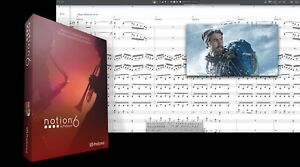 New PreSonus Notion 6 Music Notation Software Version for Mac PC eDelivery