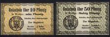[14369] - 2 xNOTGELD SCHULITZ (heute: Solec Kujawski), Stadt, 10 + 50 Pf, 05.02.
