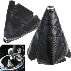 Black Car Gear Shift Knob Shifter Boot Gaiter Dust Cover Glove PVC Universal UK