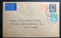 1932 Mombasa Kenya British KUT Airmail cover To Dar Es Salaam