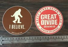 The Great Divide Brewery Sasquatch Stickers