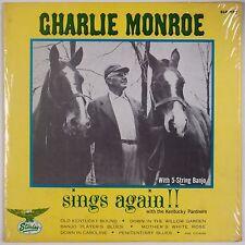 CHARLIE MONROE: Sings Again!!! Banjo Bluegrass STARDAY ORIG Shrink VINYL LP VG++