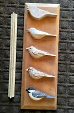 Hand Carved Chickadee Plaque, study Carving Songbird