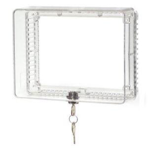 Universal Locking Thermostat Cover Honeywell Anti Tamper Guard Lock Box Home