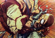 One-Punch Man / Gin Tama poster promo anime official Wanpanman