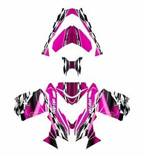 Ski Doo REV XS 2013 2014 2015 graphics sled custom wrap deco kit #2300 Hot Pink