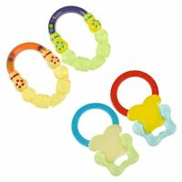 Babies 6m+ Water Filled Baby Rattle Teether Safely Fridge Chill For Soothing