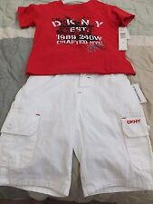 Boys DKNY Top and Shorts Set Size 12 month red/white