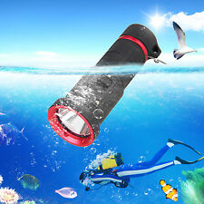 5000LM CREE XML 2 LED Solarstorm SCUBA Diving Flashlight Torch Lamp Light 18650