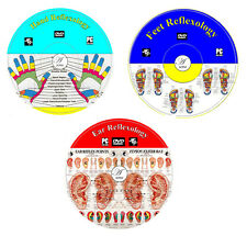 Reflexology Set For Ears Hands Feets Instruction Step By Step DVD Video Guide